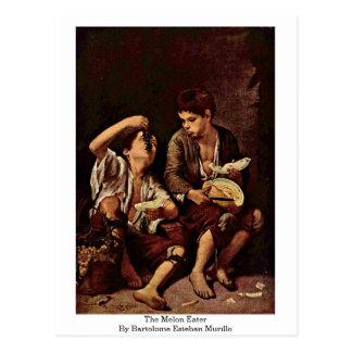 Meloneateren av Bartolome Esteban Murillo Vykort