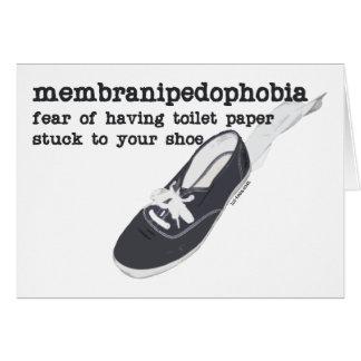 Membranipedophobia Hälsningskort