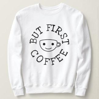 Men första kaffe t-shirts