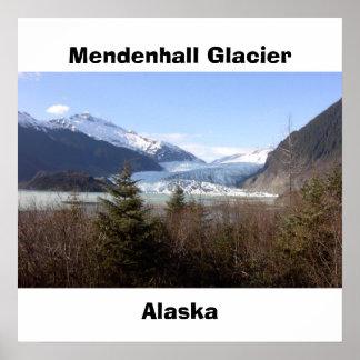 Mendenhall glaciär, Alaska Poster
