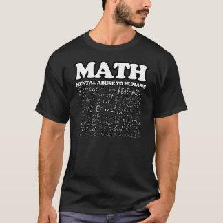 Mentalt missbruk för rolig Math till T-shirts