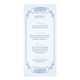Meny för blåttFilagreebröllop