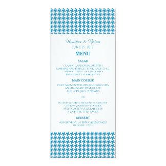 Meny för blåttHoundstooth bröllop 10,2 X 23,5 Cm Inbjudningskort