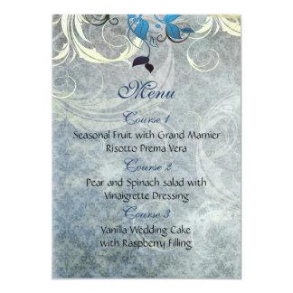 meny för bröllop för blåttlövvinter 12,7 x 17,8 cm inbjudningskort