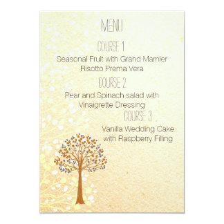 meny för bröllop för nedgångträd lantlig 12,7 x 17,8 cm inbjudningskort