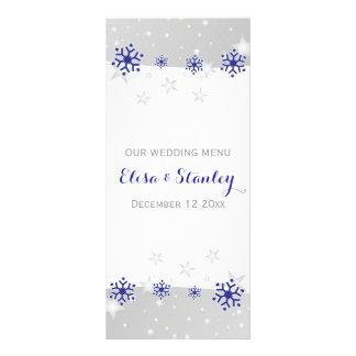 Meny för bröllop för vinter för blåttgrå