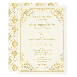 Menyn för bröllopmiddagen Cards | art décostil 12,7 X 17,8 Cm Inbjudningskort
