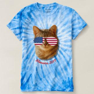 Meowica kattamerikanska flaggan T Tee Shirt