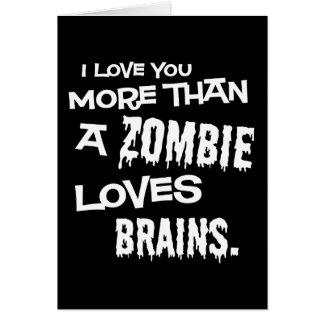 Mer än en Zombie älskar hjärnor Hälsningskort