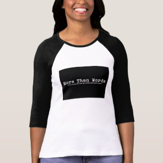 Mer än ord projekterar damskjortan t shirts