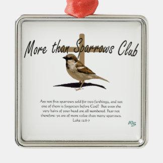 Mer än Sparrows Julgransprydnad Metall
