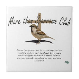 Mer än Sparrows Kakelplatta