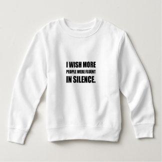 Mer folk som är flytande i tystnad tröja