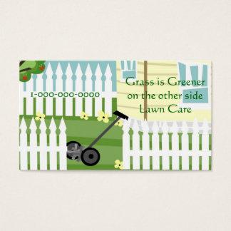 Mer grön gräs visitkort