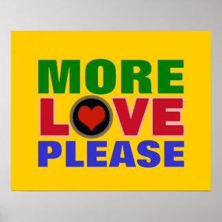 mer kärlek behar färgrik typografi poster
