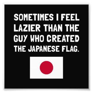 Mer lat japansk flagga fototryck