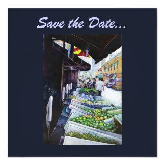 Mer ljus sida av lavendelgatan, Singapore Fyrkantigt 13,3 Cm Inbjudningskort