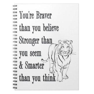Mer modig anteckningsbok -