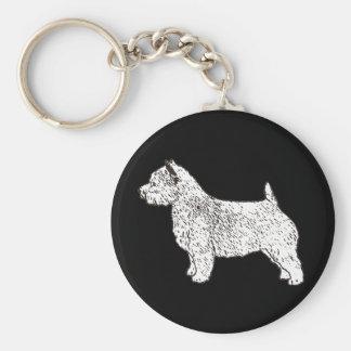 mer norwich_terrier rund nyckelring