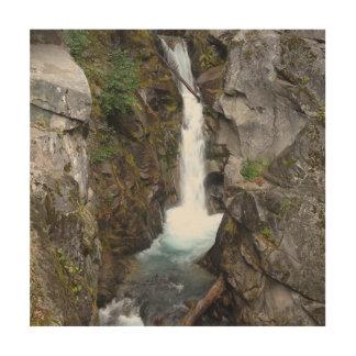 Mer regnig vattenfall trätavla