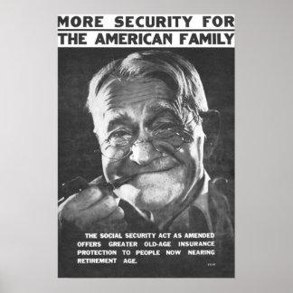 Mer säkerhet för amerikanfamiljen poster