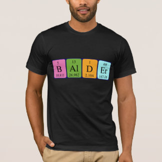 Mer skallig periodisk bordnamnskjorta tshirts