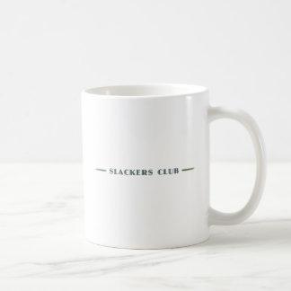 Mer slak klubb långt som rullar kaffemugg