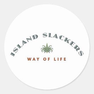 Mer slak livsföring för ö runt klistermärke