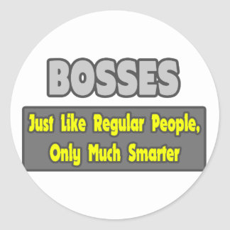 Mer smart chefer… runt klistermärke