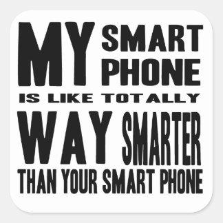 Mer smart ila telefonen fyrkantigt klistermärke