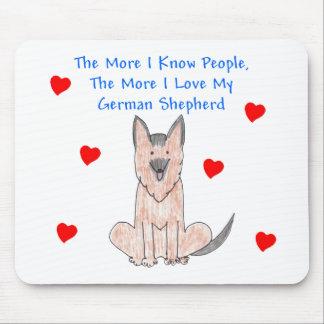 Mer vet jag folk tysk herdehund musmatta