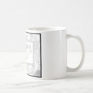 Mercat med seahorses och maneten kaffemugg