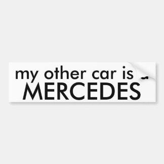MERCEDES min annan bil är a Bildekal