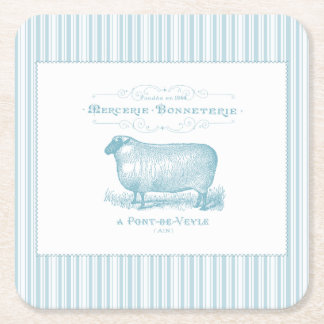 Mercerie Bonneterie får Underlägg Papper Kvadrat