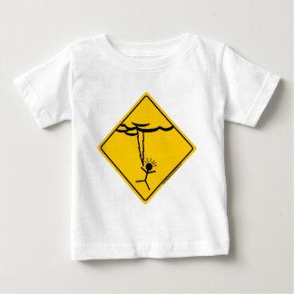 Merchandise och bekläda för blixtvädervarning tee shirt
