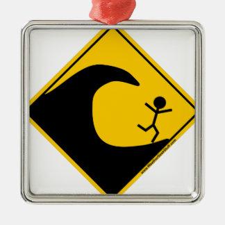 Merchandise och bekläda för Tsunamivädervarning Julgransprydnad Metall