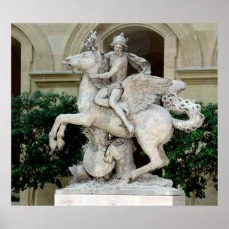 Mercury som rider Pegasus Poster