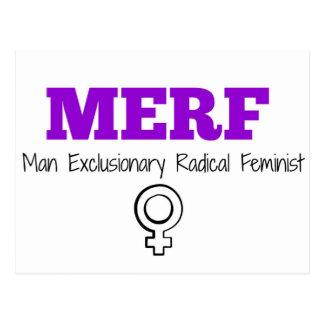MERF - Exclusionary radikal feminist för man Vykort