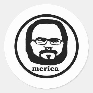 Merica Runt Klistermärke