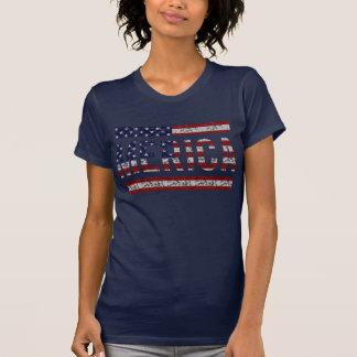MERICA - USA flagga för amerikanprideSlang Tshirts