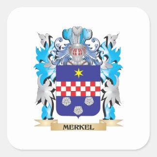 Merkel vapensköld - familjvapensköld fyrkantigt klistermärke