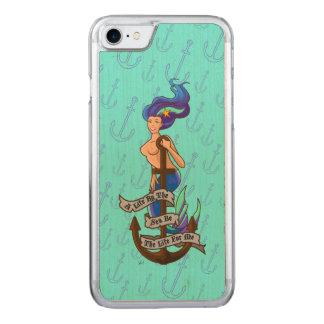 mermaid_msaquapurple_slimwood carved iPhone 7 skal