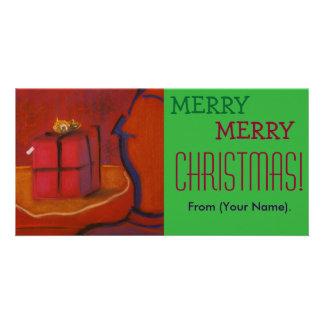 Merr god julanpassade Notecard Fotokort