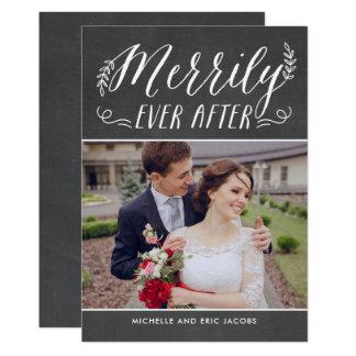 Merrily någonsin efter kort för nygift 12,7 x 17,8 cm inbjudningskort