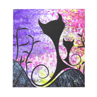Messemios - svarta katter anteckningsblock