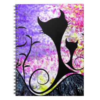 Messemios - svarta katter anteckningsbok
