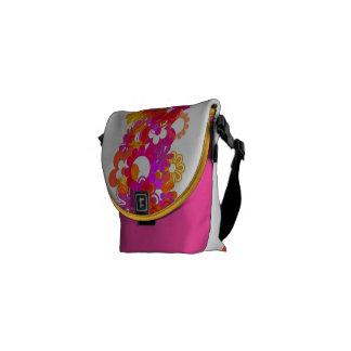 Messenger bag - blommor