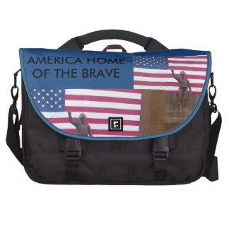 Messenger bag för Americam pendlarebärbar dator Laptop Väska