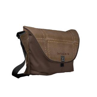 messenger bag för anpassade för läderpatchworklook