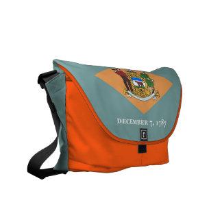 Messenger bag för Delaware statlig flaggaRickshaw